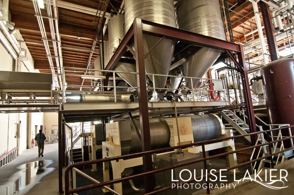 Wine Making, Wineries, Stainless Steel Hopper, Warehouse, Dry Creek Valley