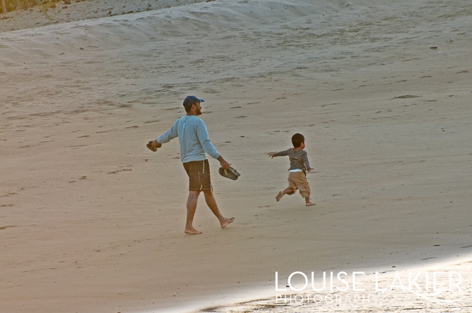 Walking to Work, Beachfront, Walking, Family, Father and son, Nicaragua, El Gigante, Central America, Travel Photography