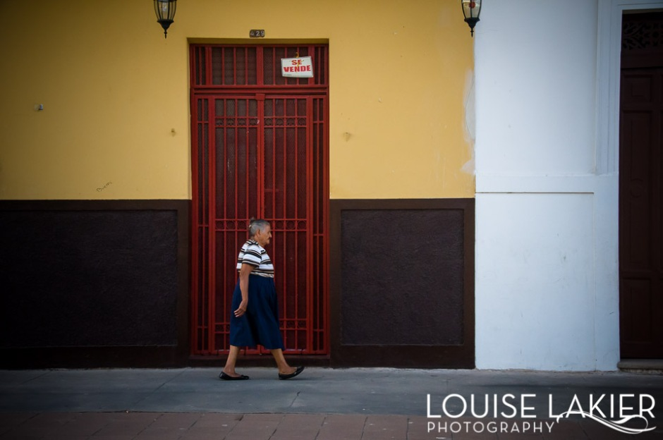 Out For A Walk, Granada, Nicaragua, Colors, Background, Stripes, People, Street Photography