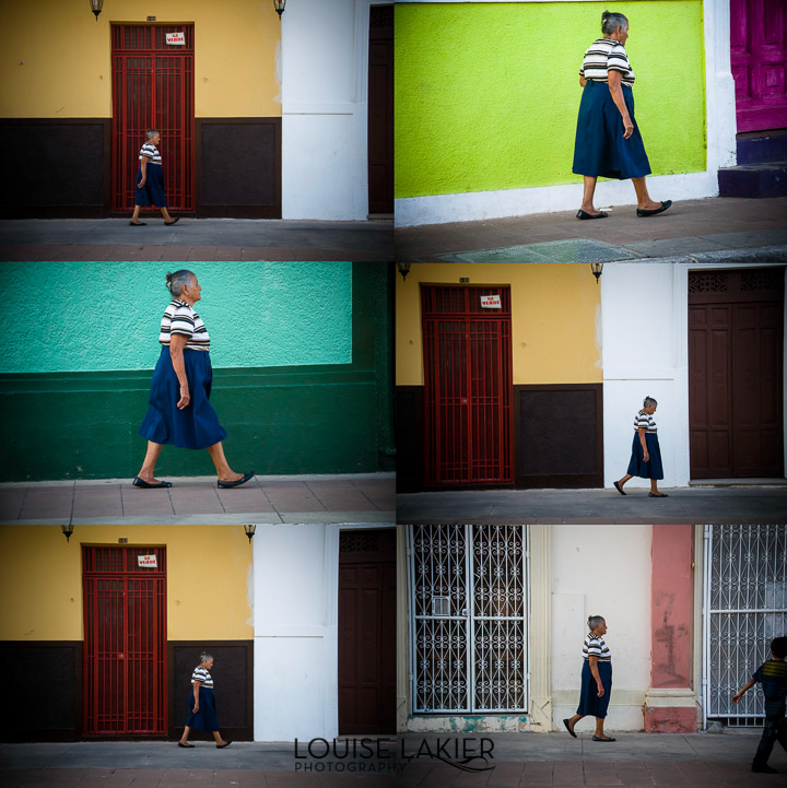 Out for a Walk, Colors, Women, Granada, Nicaragua, Doors, Stripes, Backgrounds, Street Photography