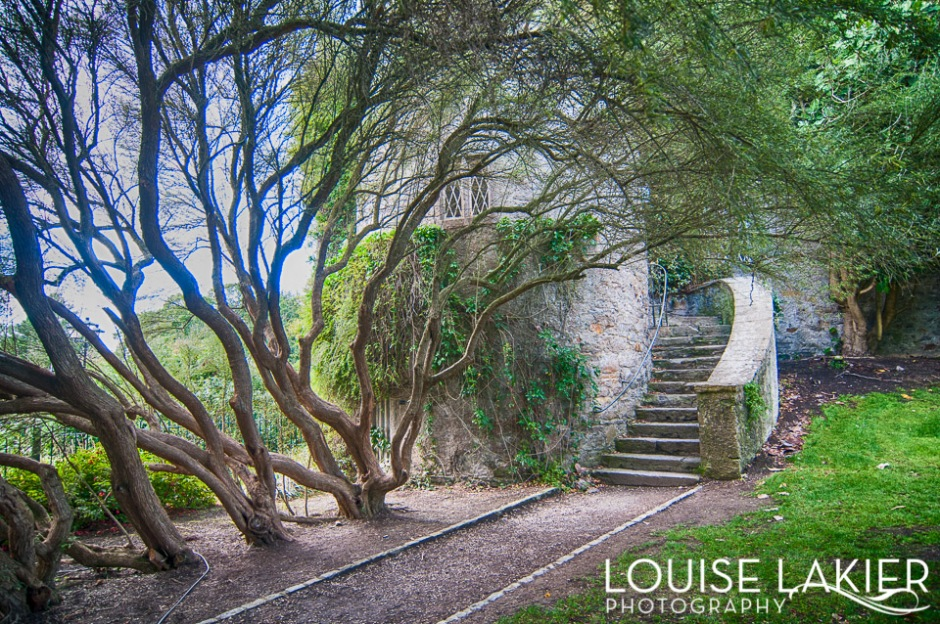 Stairs to the tower at Malahide Castle and Gardens